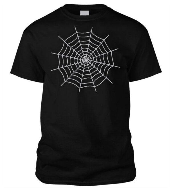 Halloweeni pókhálós póló