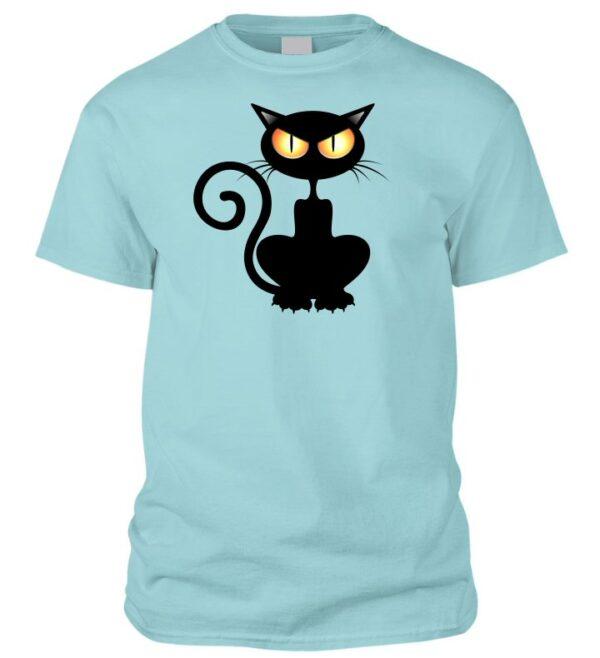 Halloweeni macskás póló