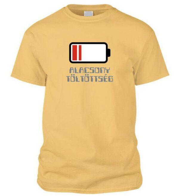 Alacsony töltöttségű póló