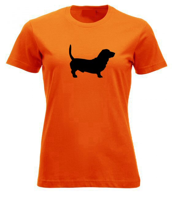 Basset hound kutyás női póló