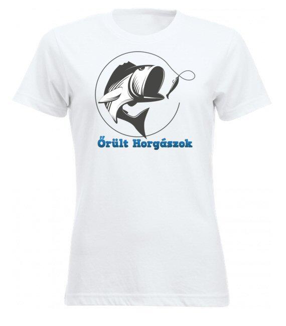 Horgászos női póló