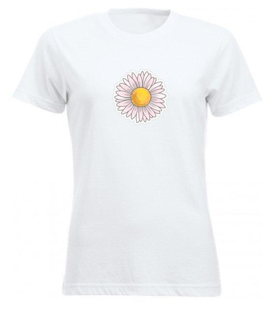 Virágos női póló