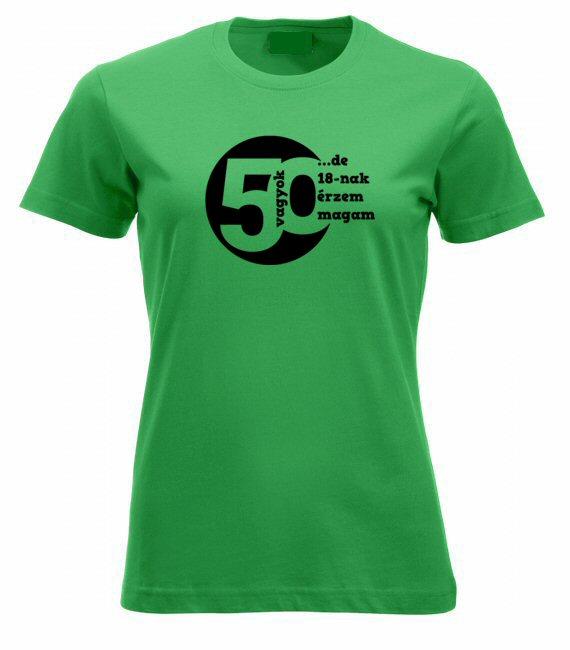 50 vagyok női póló